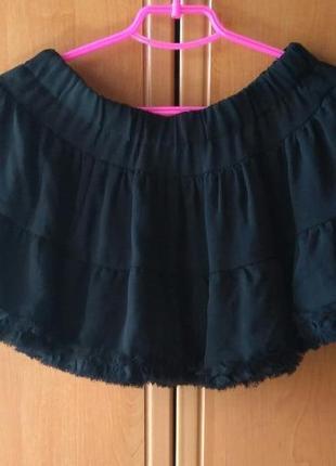Черная юбочка с рюшками фатина