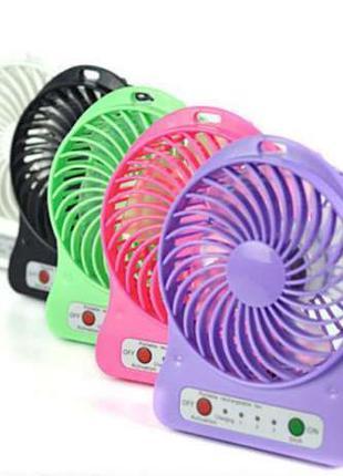 Вентилятор мини портативный настольный от USB или аккумулятор ...