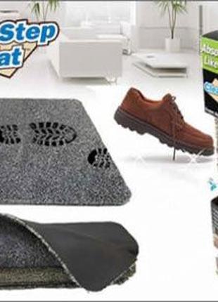 Супервпитывающий придверный коврик Clean Step Mat в прихожую д...