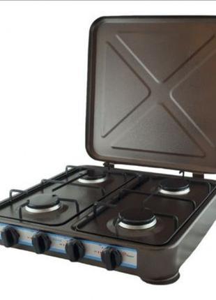 Настольная газовая плита таганок печка печь Domotec 6604 4 кон...
