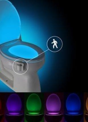 Подсветка Tolit LED для унитаза светильник с датчиком движения