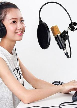 Микрофон студийный DM 800 3.5мм стойка конденсаторный ветрозащита