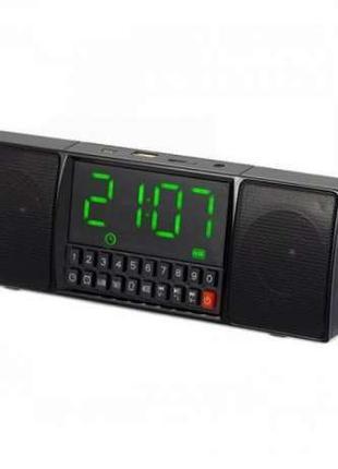 Портативная MP3 колонка Часы USB Радио Bluetooth WS-1515