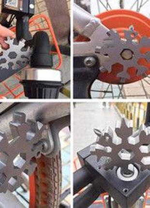 Ключ универсальный мультитул снежинка 18 в 1 брелок snowflake ...