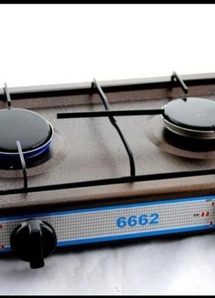 Настольная газовая плита Domotec MS 6662 на 2 конфорки