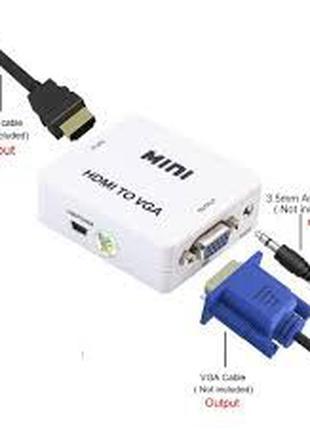 Адаптер HDMI to VGA, VGA to HDMI, AV RCA HDMI переходник конве...