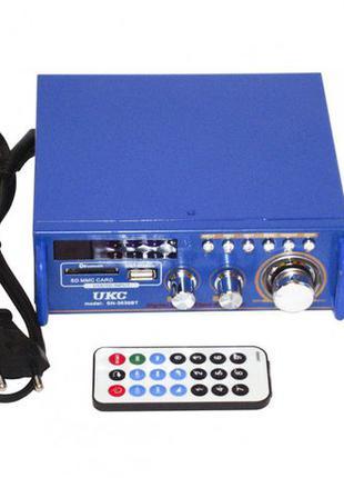Усилитель звука FM Bluetooth USB SD караоке 2х60W