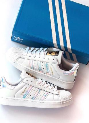 Adidas superstar white женские кроссвоки адидас суперстар белые