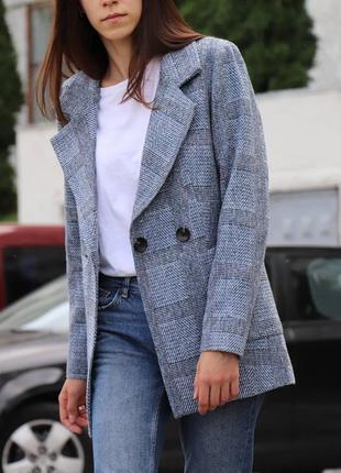 Шерстяной блейзер весенний пиджак жакет класический