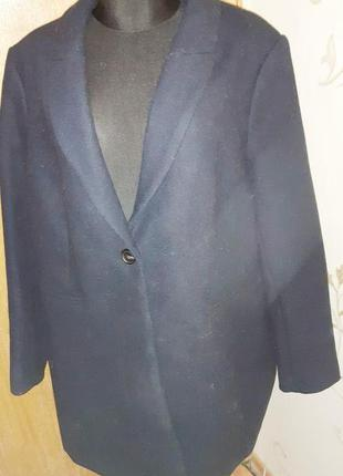 Елегантне синє пальто mango xxl