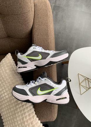 Nike air monarch iv white green мужские кроссовки найк монарх