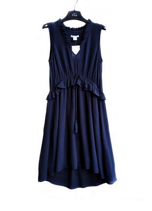 Романтическое платье c воланом и кисточками h&m.