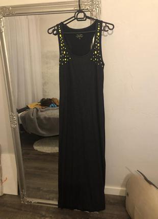 Платье майка в пол с мерцанием