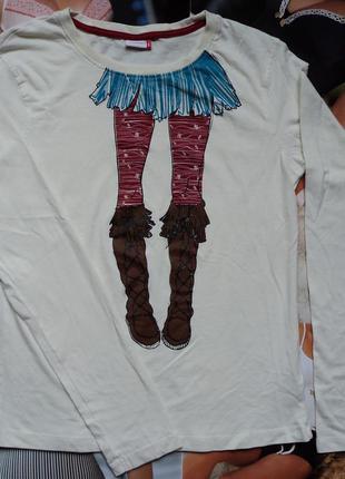 Лонгслив футболка для девочки, девушки