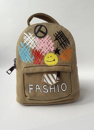 Небольшой женский рюкзак, сумка-рюкзак, брезент
