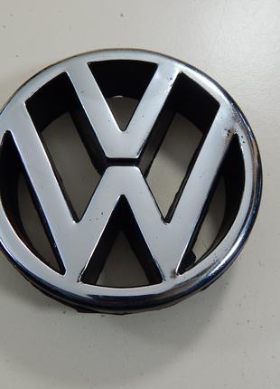 Эмблема VolksWagen T4 ХРОМ объемная (пластик) высокая