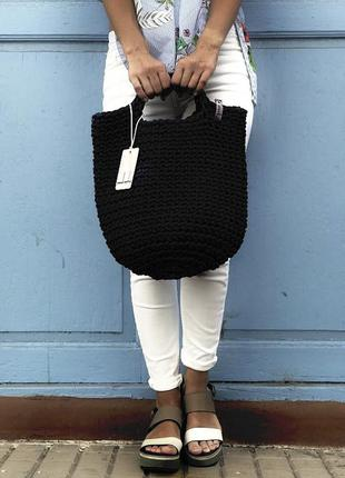 Плетёная сумка ручной работы