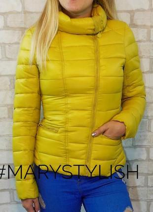 Куртка косуха, желтый/горчица