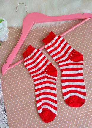 Носки женские в полоску / модные носки