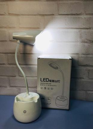 Портативная Компактная Яркая без проводная настольная Лампа с сен