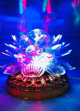 Яркая, Вращающаяся диско лампа Led full color rotating lamp свето