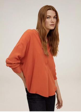 Шикарный цвет,шелковая блуза рубашка 100% шёлк размер м marc o...