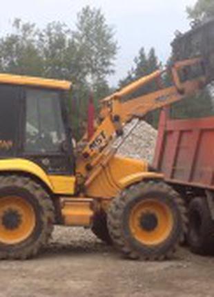 Демонтаж построек спецтехникой, земляные работы