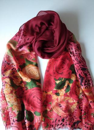 Весенний шарф в цветы