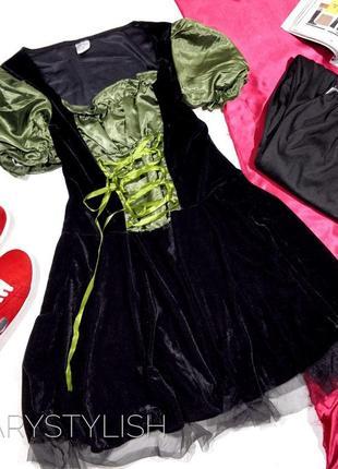 Карнавальное платье + штаны набором