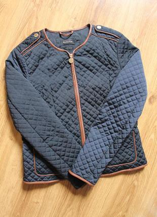 Легкая стеганая курточка весна-осень женский бренд massimo dutti