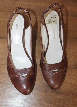 Немецкие кожаные туфли airstep, 39 размер