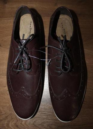 Кожаные туфли оксфорды rockport