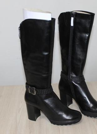 Кожаные сапоги на устойчивом каблуке gerry weber vando, 38 размер
