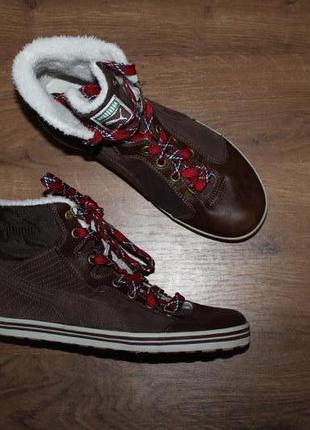Кожаные утепленные ботинки puma, 39 размер