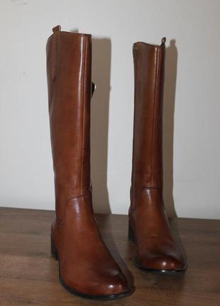Демисезонные кожаные сапоги caprice