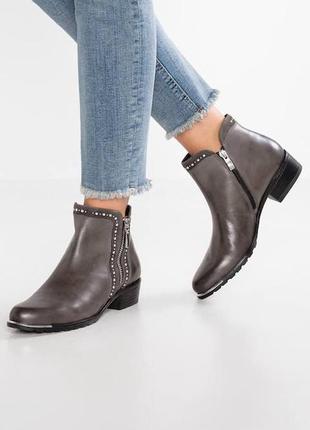 Стильные кожаные ботинки caprice on air insole, 37.5 размер