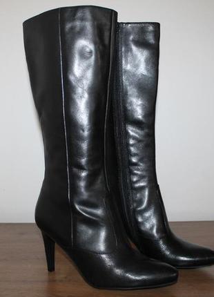 Демисезонные кожаные сапоги ecco, 41 размер