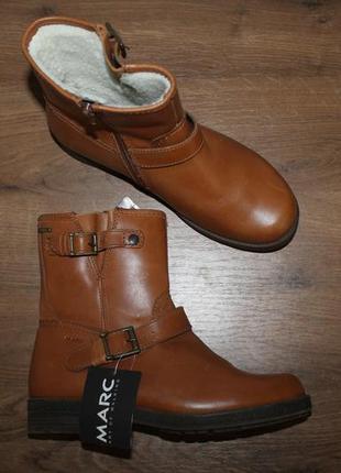 Кожаные сапоги с мембраной gore-tex marc soft walk