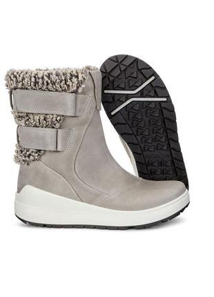Зимние кожаные сапоги ecco noyce, 42 размер
