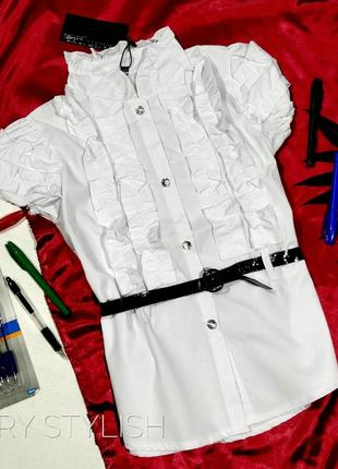 Вналичии!!! все размеры!!! школьная форма блузка белая на дево...