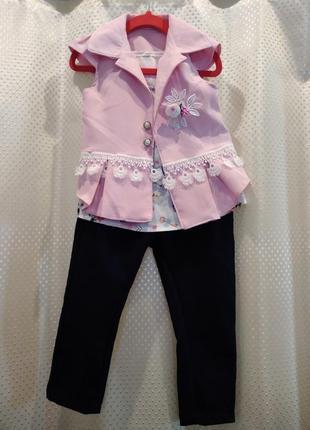 Стильный костюм 3-ка для девочки 3 года. #розвантажуюсь