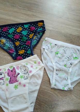 Набор трусиков для девочки (7-8 лет). хлопок
