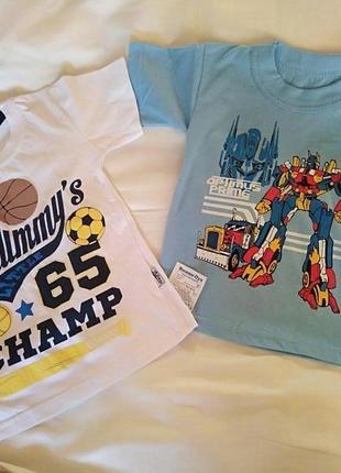 Набор футболок для мальчика 4-5 лет (2 шт)