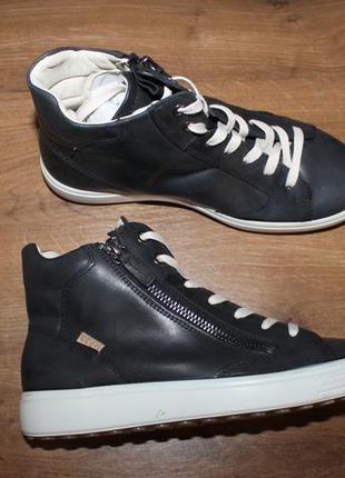Кожаные ботинки ecco soft