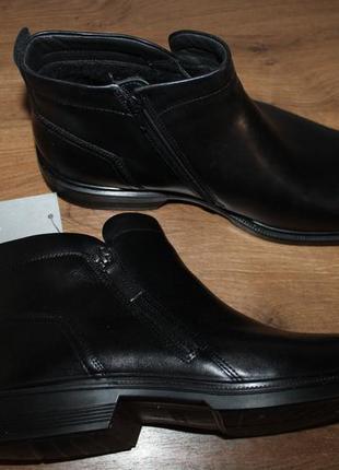 Кожаные ботинки ecco lisbon , 47 размер