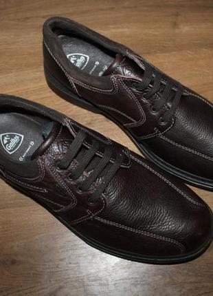 Полуботинки кожаные  на широкую ногу gallus, 43, 46 размеры