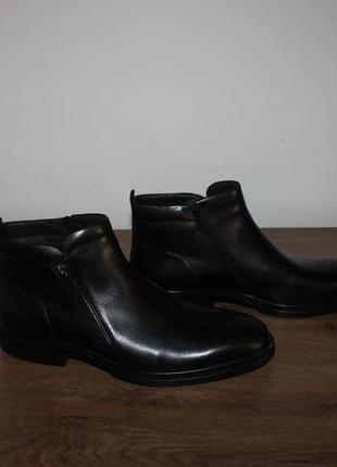 Кожаные ботинки ecco faro, 47 размеры