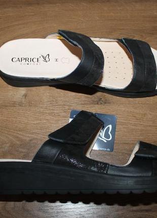 Шлепки на широкую ногу caprice, 42 размер