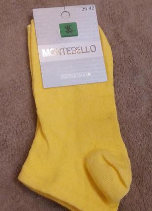 Носки женские montebello монтебелло цветные короткие турция