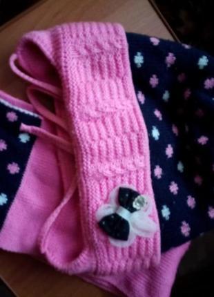 Шапка и шарф на девочку 3 - 4 года